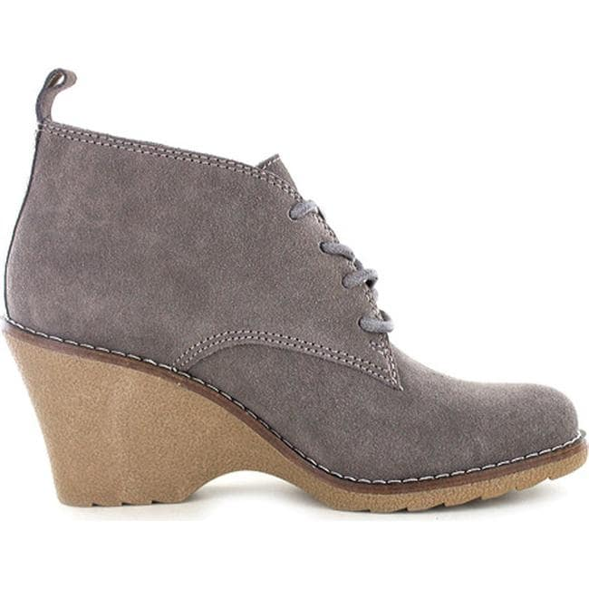04ea70a4e95e Shop White Mountain Women s Lambert Wedge Bootie Dark Taupe Suede - On Sale  - Free Shipping On Orders Over  45 - Overstock - 12869450