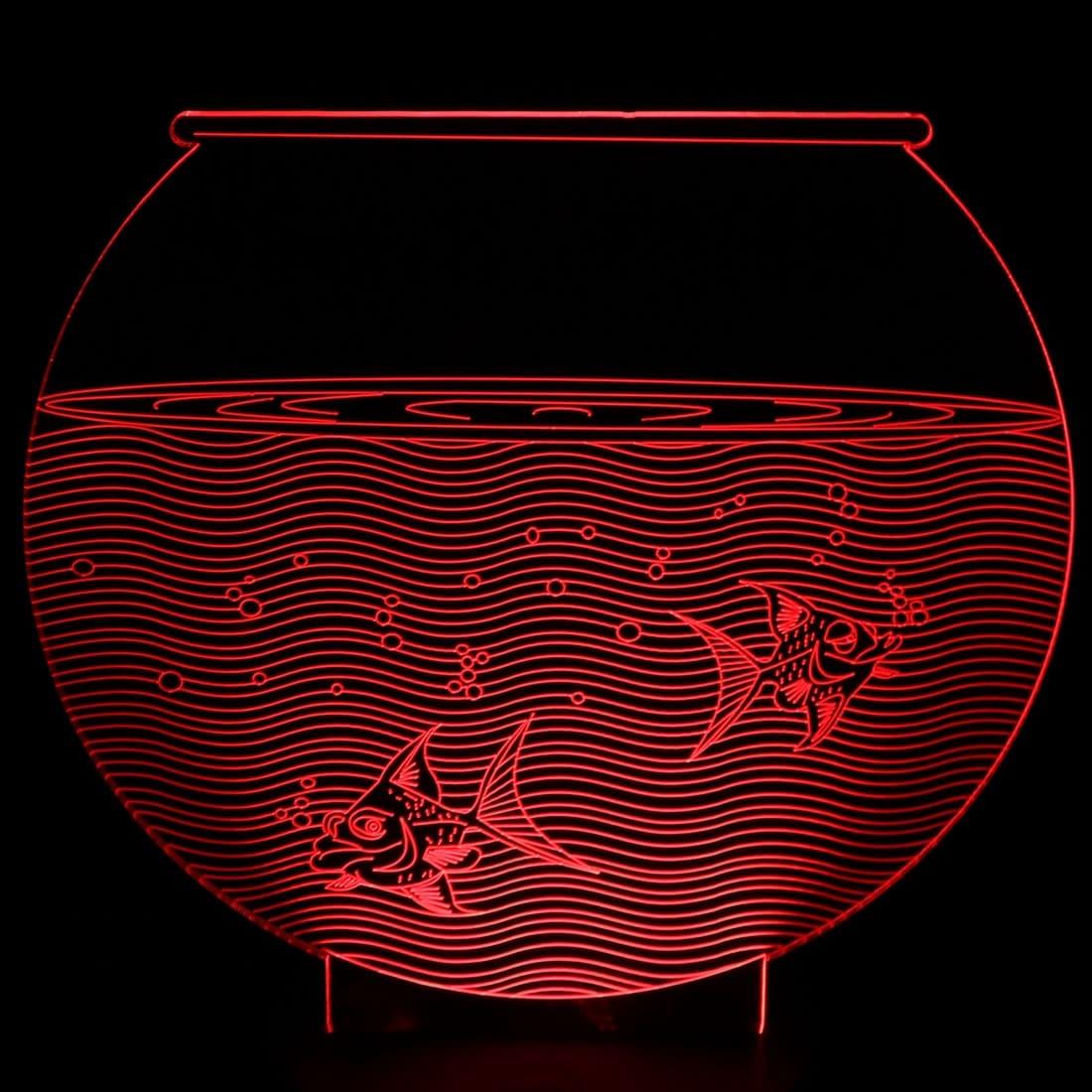Shop DC 5V Fish Tank 3D Acrylic LED Night Light 7 Color Change Desk ...