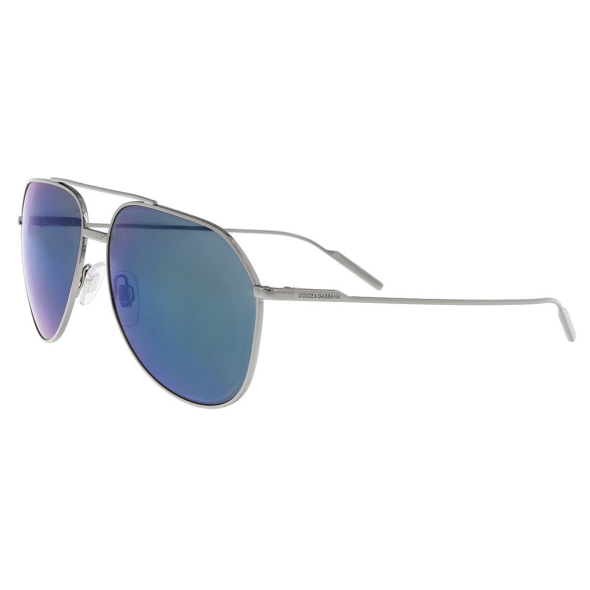 924bb9d2f354 Shop Dolce   Gabbana DG2166 04 96 Gunmetal Aviator Sunglasses - 61 ...