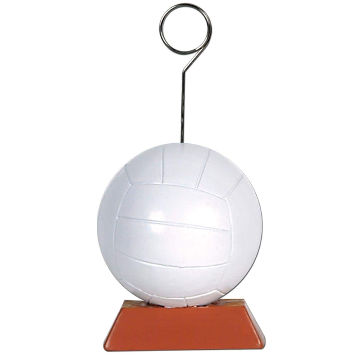 Shop Pack Of 6 White And Brown Volleyball Photo Or Balloon Holder