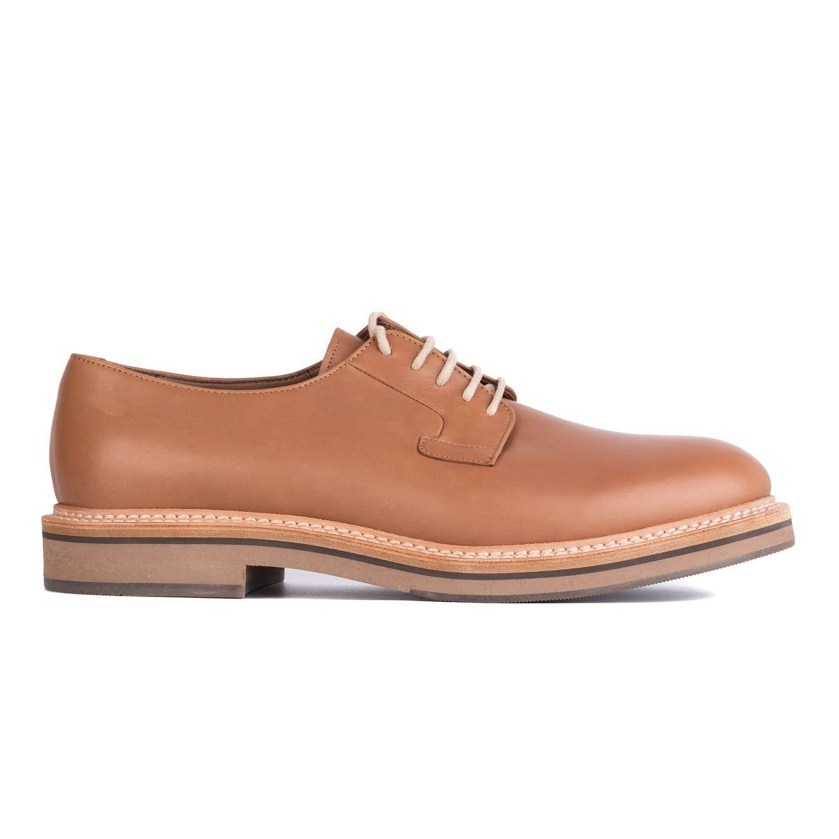 ee9f648f2c533d Brunello Cucinelli Tan Brown Polished Leather Lace Up Derby Shoes~RTL$1250