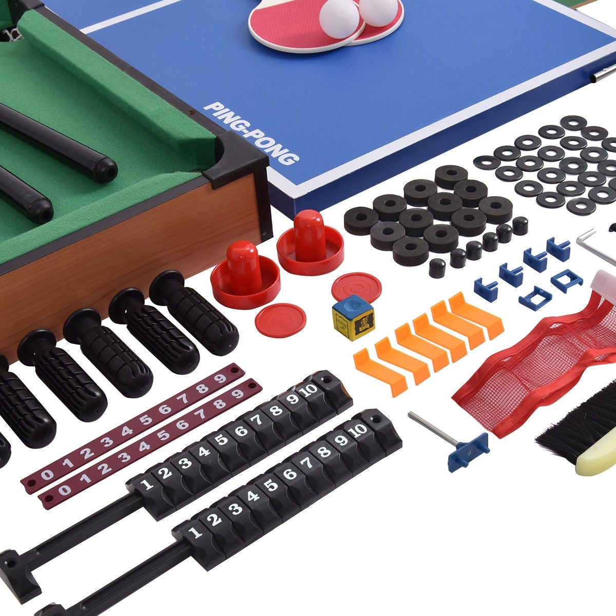 Shop Costway 4 In 1 Multi Game Air Hockey Tennis Football Pool Table  Billiard Swivel Indoor   As Pic   Free Shipping Today   Overstock.com    17155140