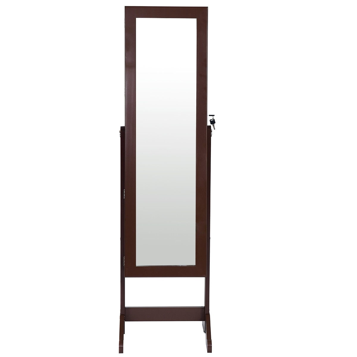 mirrored cabinet with mounted wall o armoire jewelry homegear storage black organizer stand door