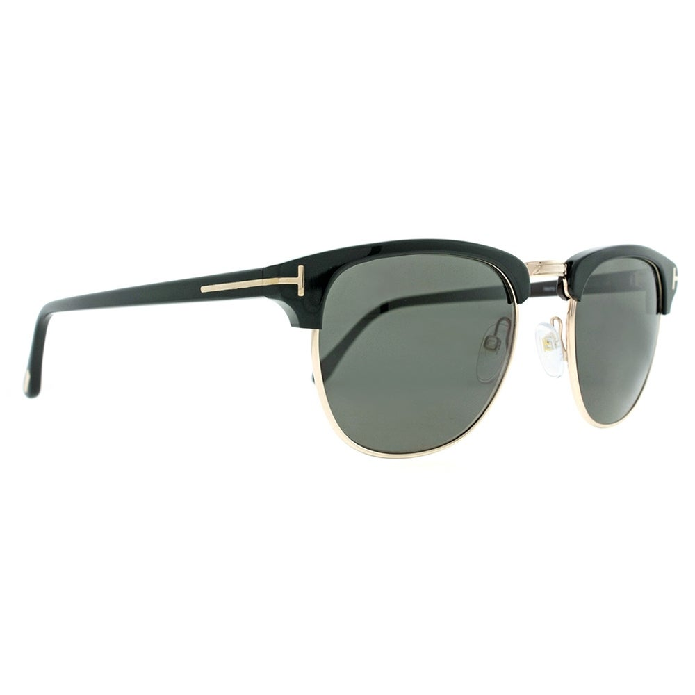 d5f99ac30bcb1 Shop Tom Ford Henry TF 248 05N 51mm Gold Black Browline Vintage Sunglasses  - 51mm-20mm-145mm - Free Shipping Today - Overstock - 15890410