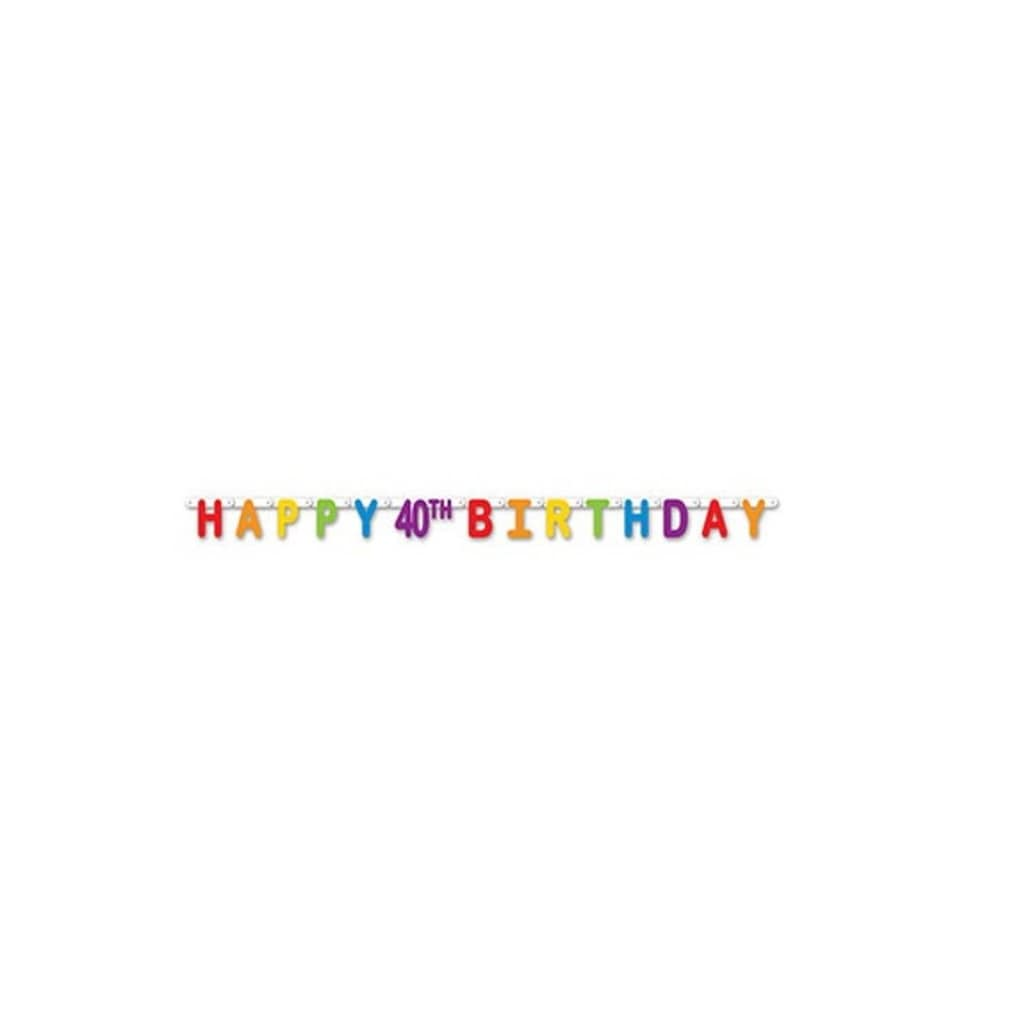 Shop Pack Of 12 Colorful Jointed Happy 40th Birthday Banner Hanging Party Decorations 66