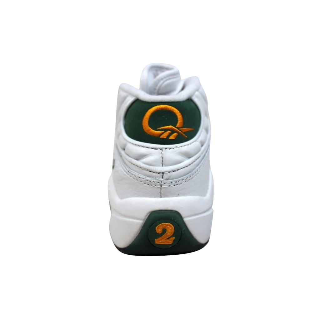low priced 7ae8e 555d4 Shop Reebok Men s Question Mid White Sap Green-Harvest Green Lebron James  V53579 - Free Shipping Today - Overstock - 19508074