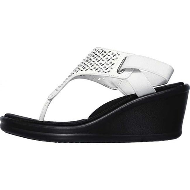 fb6e3bf30be7 Shop Skechers Women s Rumblers Dancing Queen Wedge Sandal White - On Sale -  Free Shipping On Orders Over  45 - Overstock - 26975658
