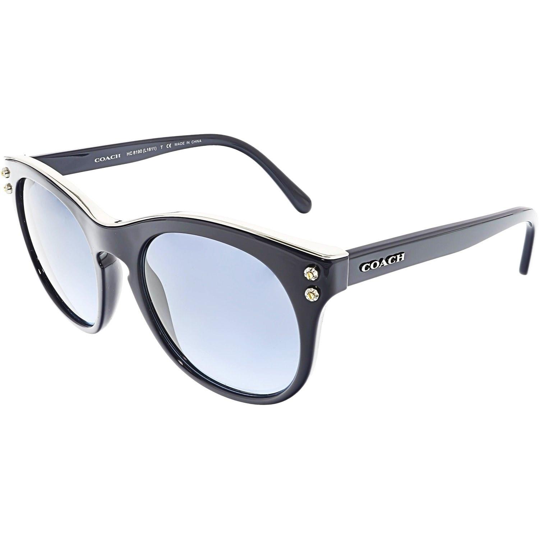 9703d1f52c9c ... amazon shop coach womens hc8190 542217 51 blue round sunglasses free  shipping today overstock 18892872 de8bd