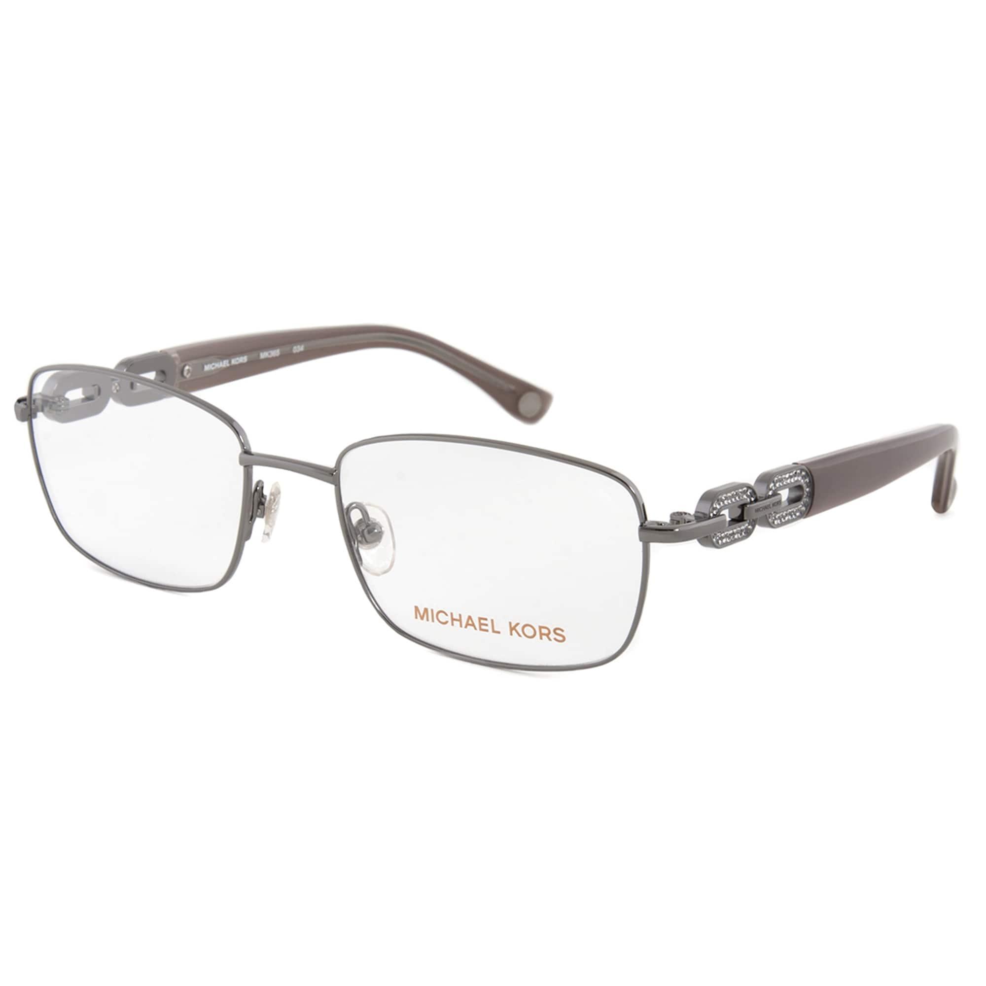 Shop Michael Kors MK365 34 Rectangular   Gunmetal  Eyeglass Frames ...