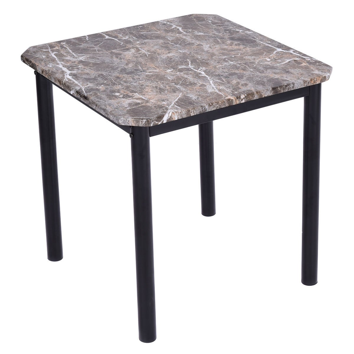 Shop Costway 3 Piece Modern Faux Marble Coffee and End Table Set ...
