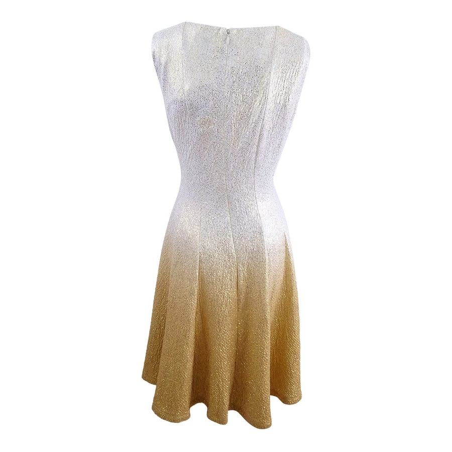 Shop Msk Women s Glitter Ombre Metallic Fit   Flare Dress - Free Shipping  Today - Overstock - 21294931 d2c951b68383