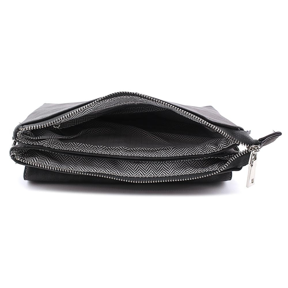 b70cd679f12c Shop Violet Ray Leanna Envelope Crossbody Women Leather Messenger - Black -  Free Shipping On Orders Over  45 - Overstock - 13568290