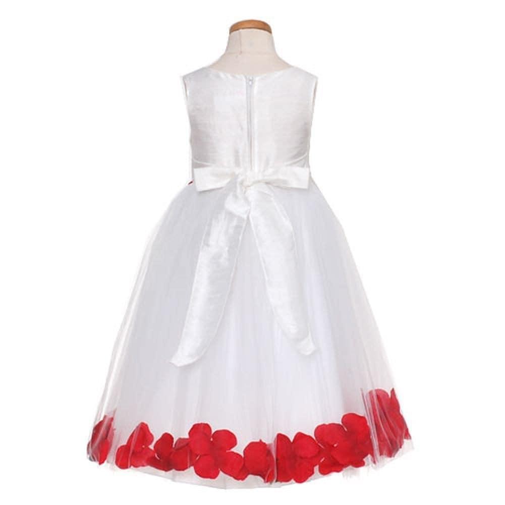 ae499da162b Shop Kids Dream Girls White Red Petal Flower Girl Dress 8-12 - Free  Shipping Today - Overstock - 26030614