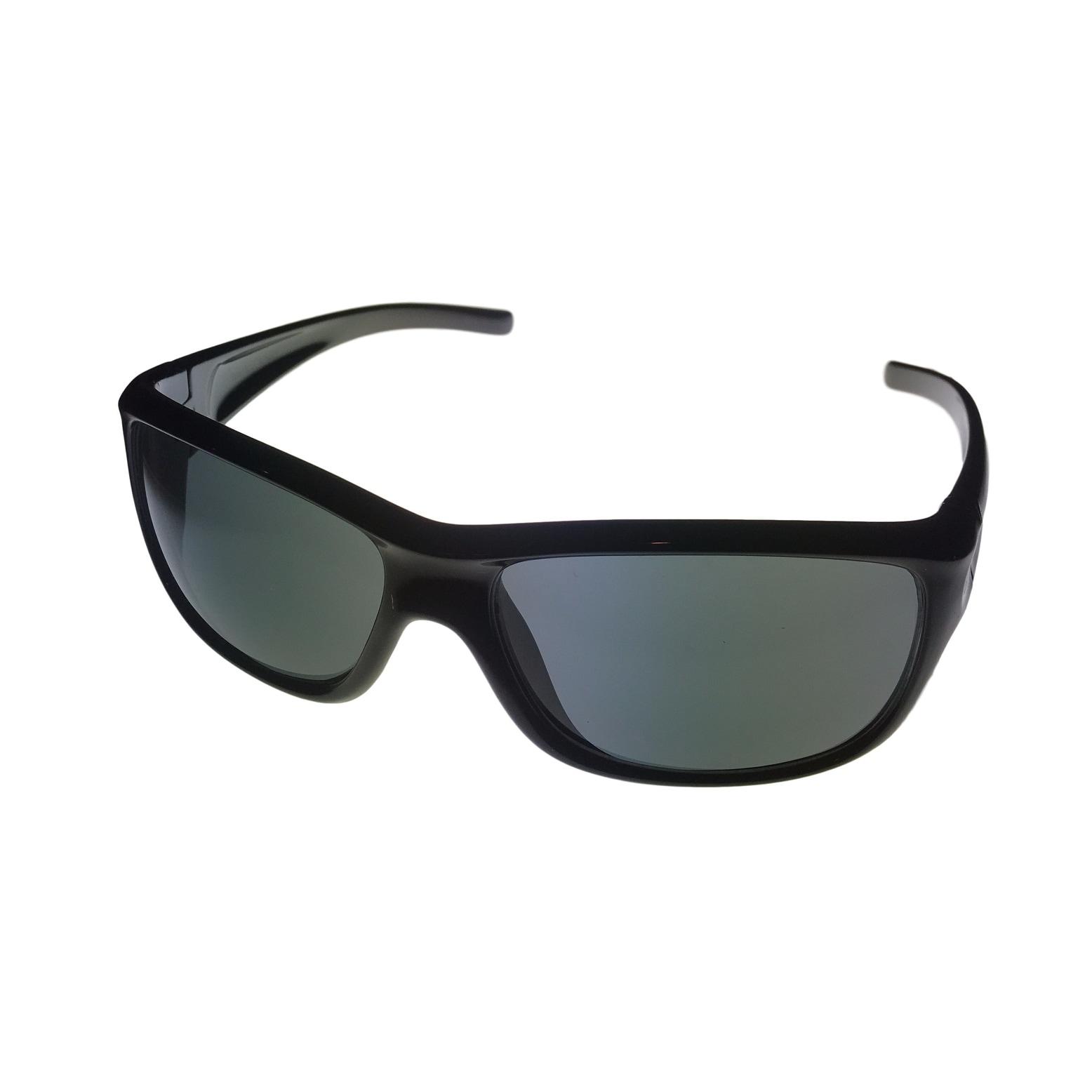 cb2ea2de421 Shop Perry Ellis Mens Sunglass PE02 1 Black Rectangle Plastic Wrap ...
