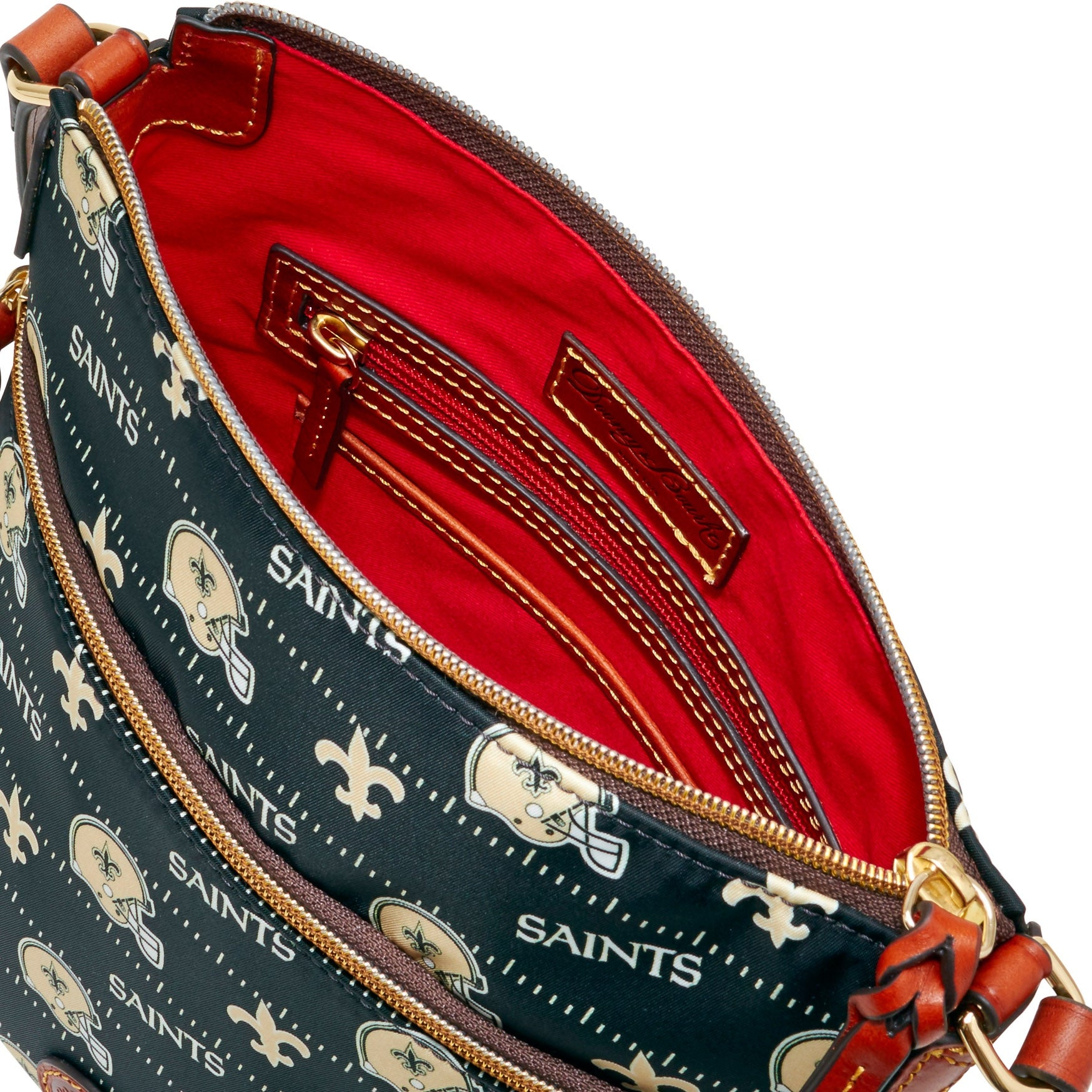 e2d049531c Shop Dooney   Bourke NFL New Orleans Saints Crossbody Shoulder Bag  (Introduced by Dooney   Bourke at  148 in Aug 2017) - Free Shipping Today -  Overstock - ...