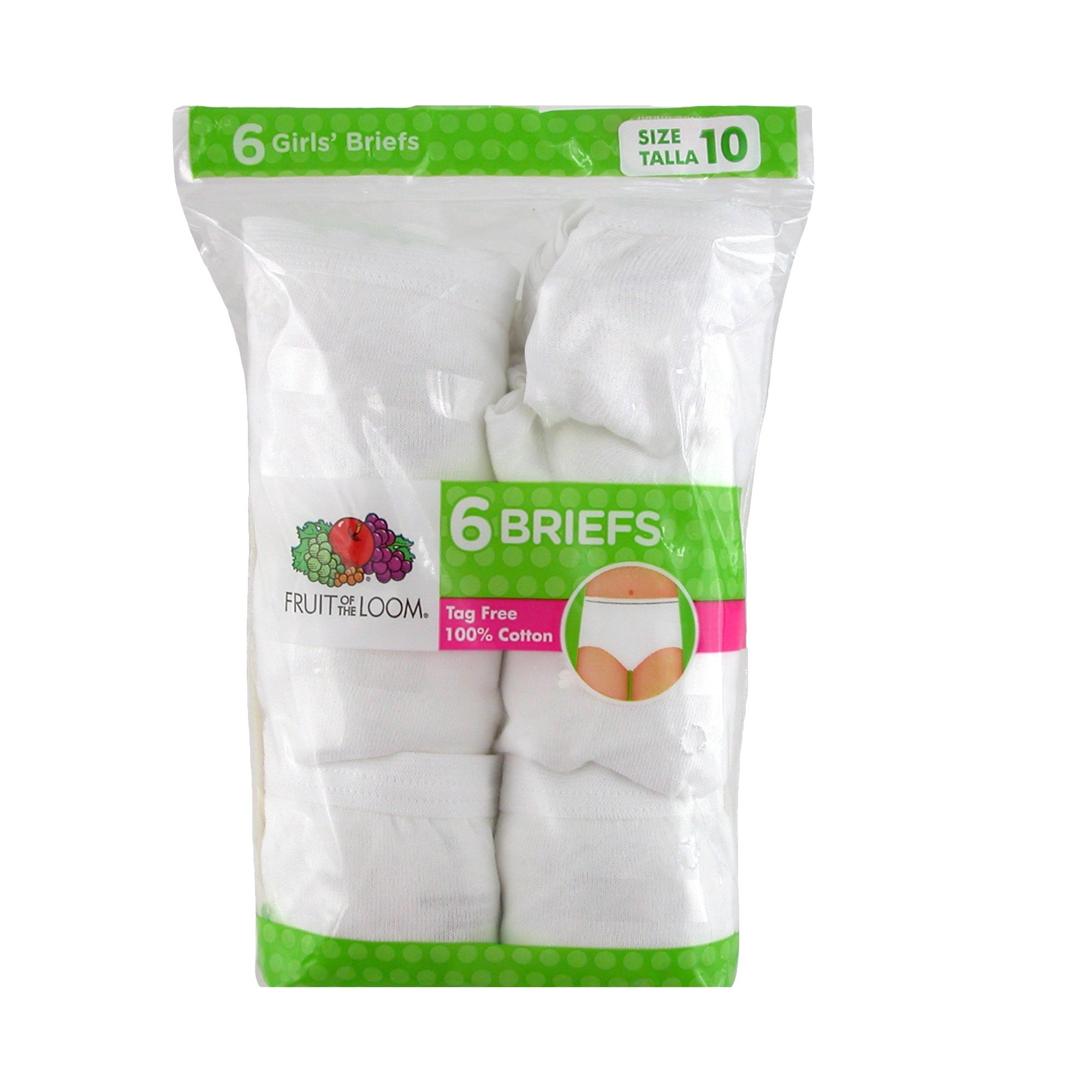 Shop Fruit of the Loom Girl's Cotton Briefs Underwear (Pack of 6) - Free  Shipping On Orders Over  45 - Overstock - 17708463 d2b0fa7fdec9