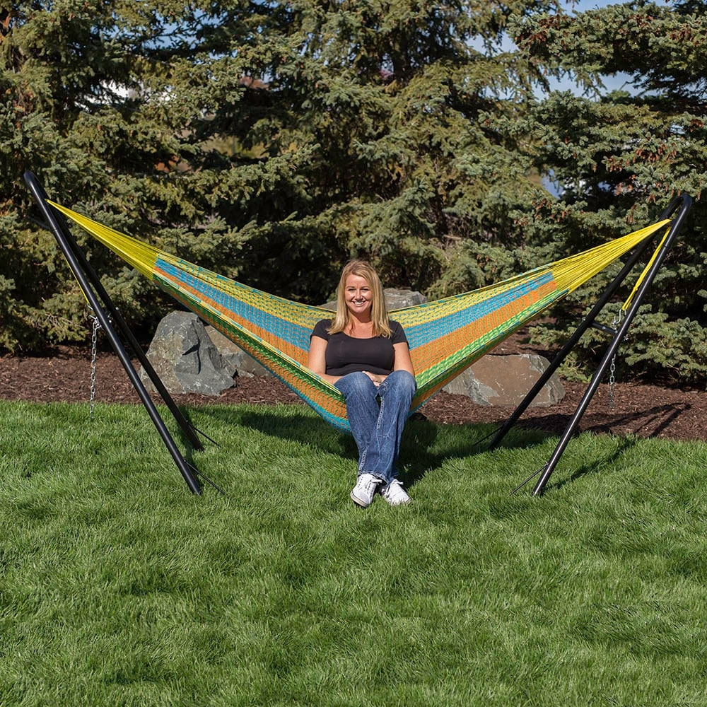 double walmart s stand combo hammock en ip bluered viveres vivere person with canada