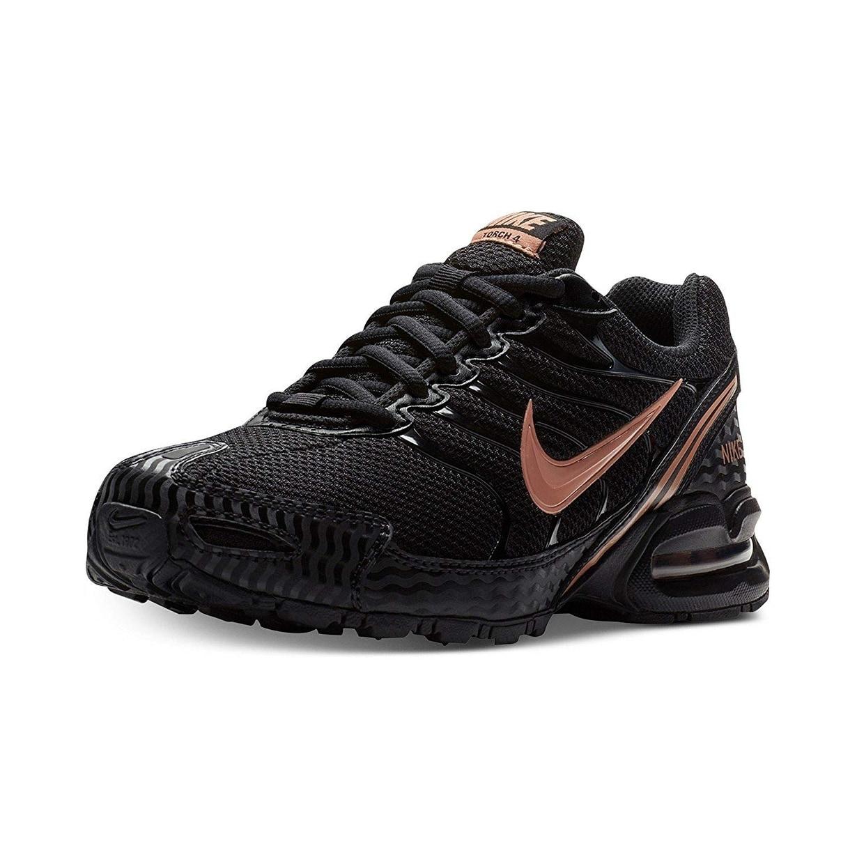 94fc90033526 Nike Women Air Max Torch 4 Running Shoe Black Metallic Rose Gold Atmosphere  Grey Size 6.5 M Us