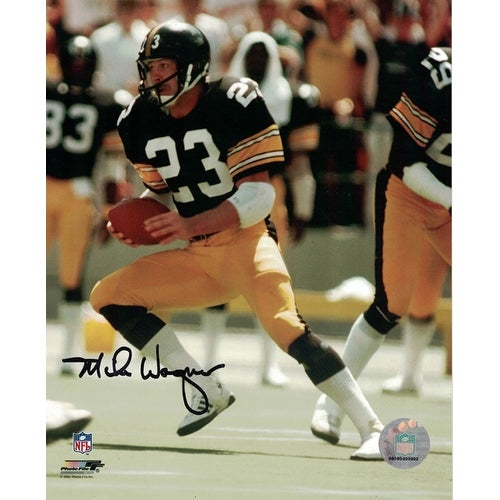 70adad765 Shop Mike Wagner Autographed Pittsburgh Steelers 8s10 Photo Black ...