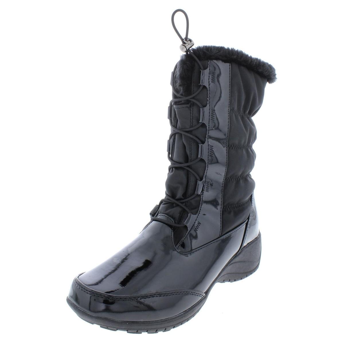 a0fa32e51be39f Shop Khombu Womens Bella Winter Boots Waterproof Patent Trim - Free ...