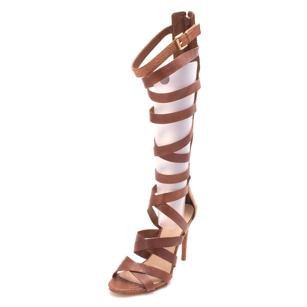 c4e77f502aa3 Shop G by Guess Womens CHRINA Leather Open Toe Special Occasion Strappy  Sandals - Free Shipping Today - Overstock - 20373030