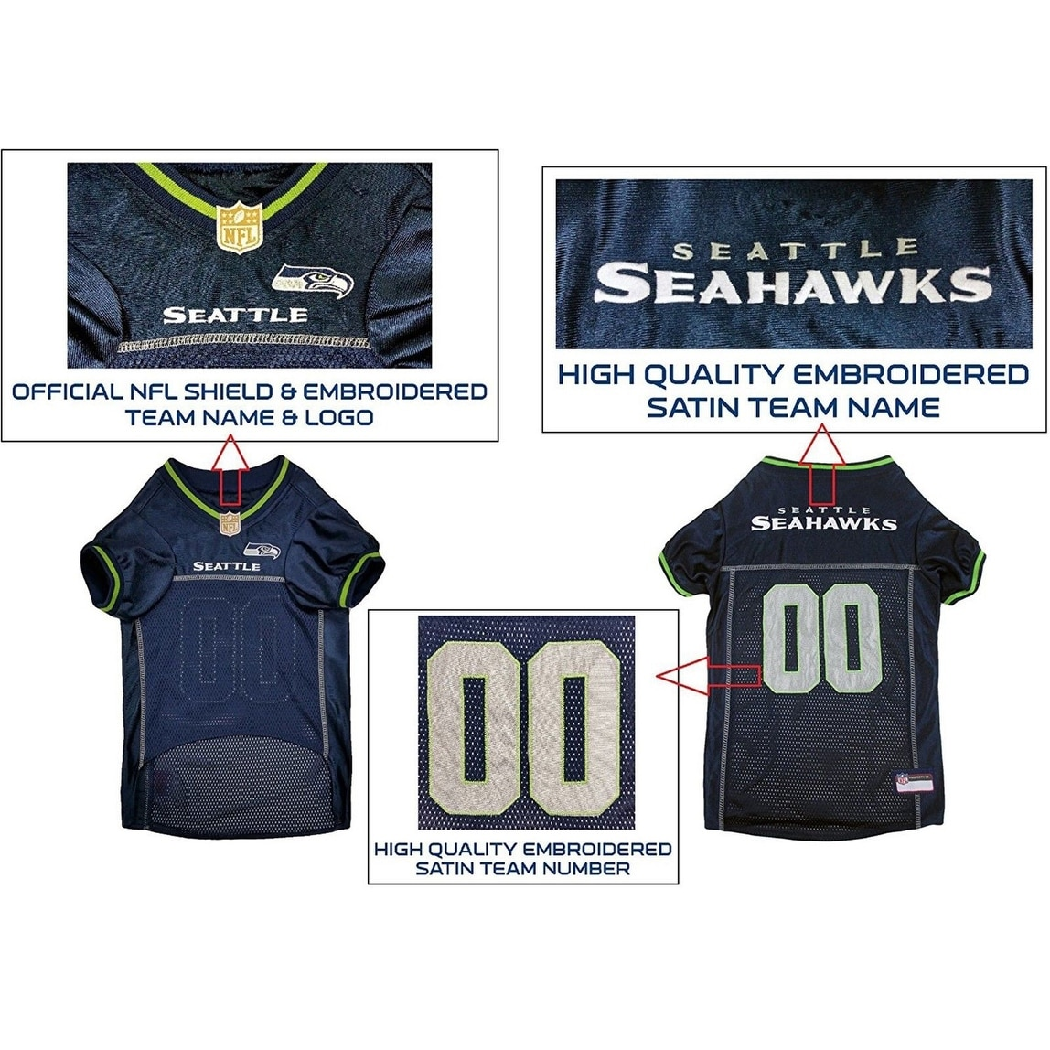 Shop Pets First NFL Premium Pet Jersey for Dogs   CATS - Licensed. 5 Teams  in 4 sizes - On Sale - Free Shipping On Orders Over  45 - Overstock -  23391463 567605624