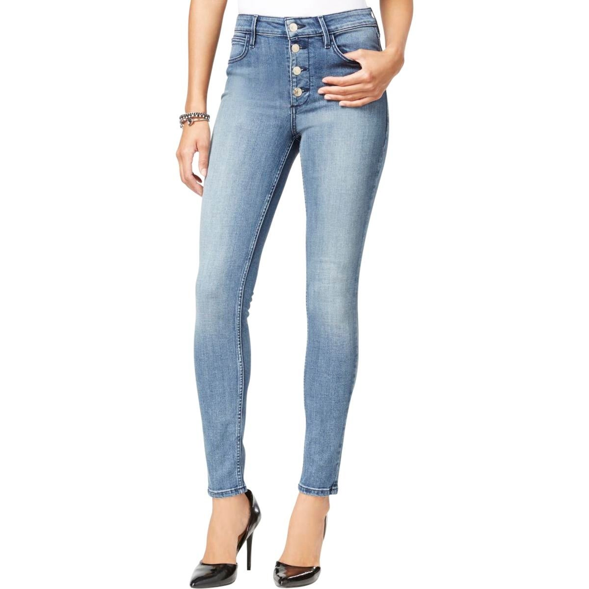 430496d54 Guess Womens Skinny Jeans Slim 1981 Button Front