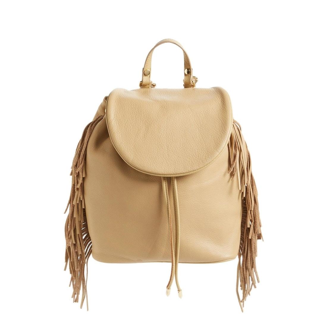 Sam Edelman Womens Leather Fifi Fringe Backpack, Large, Camel ...