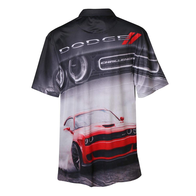 Shop Unisex Adult Dodge Challenger Button Down Shirt All Over