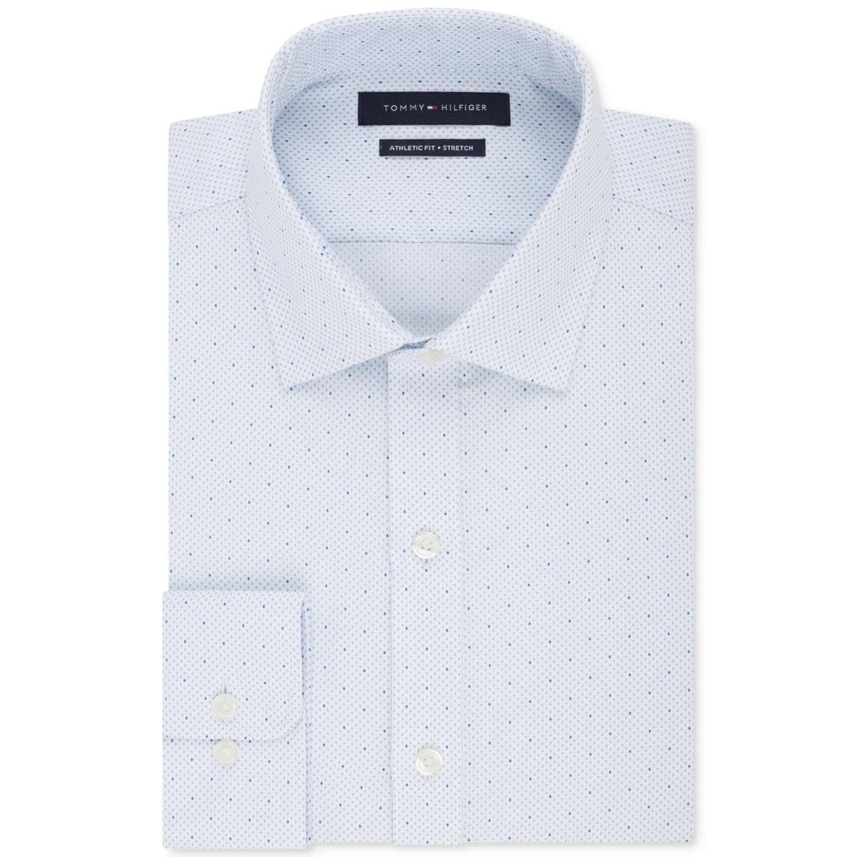 Shop Tommy Hilfiger Mens Dress Shirt Athletic Fit Non Iron Free