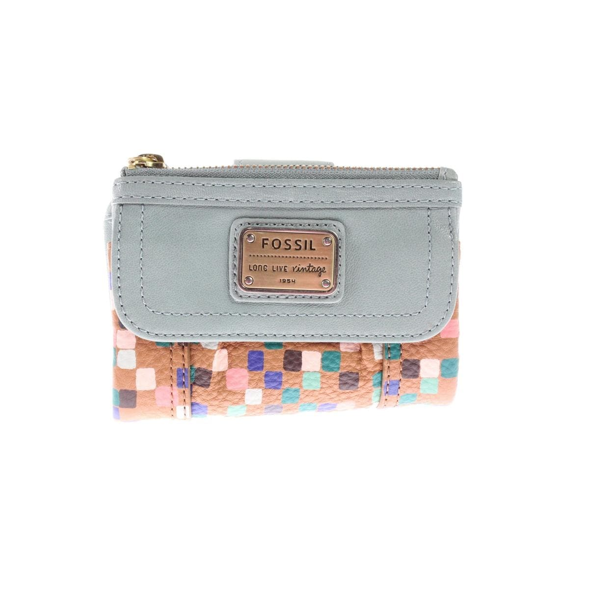 eef5e9a272ab Shop Fossil Womens Emory Trifold Wallet Leather Mixed Media - o/s - Free  Shipping Today - Overstock - 21009519