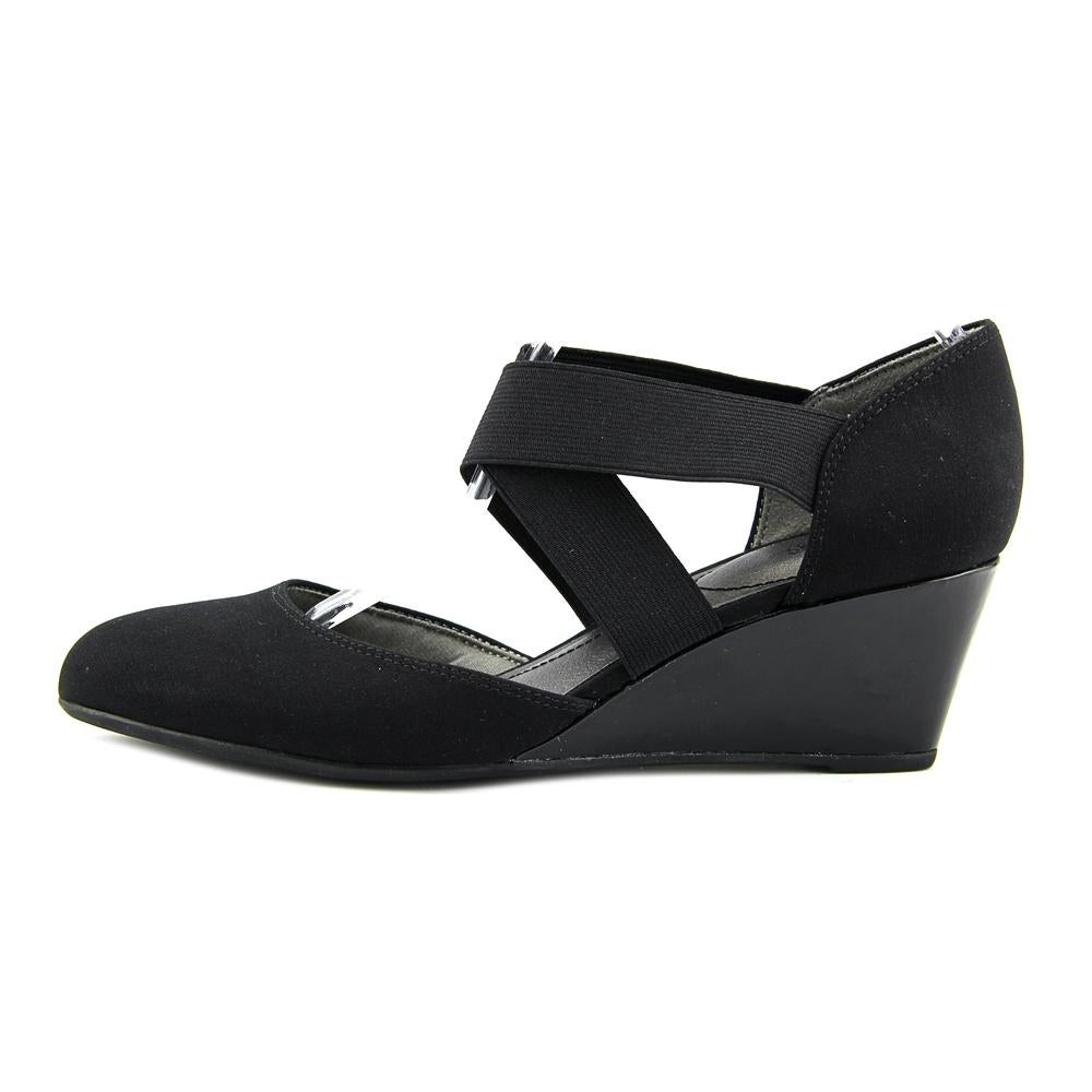 802512eb61f Shop Life Stride Darcy Open Toe Synthetic Wedge Heel - Free Shipping On  Orders Over  45 - Overstock.com - 15890603