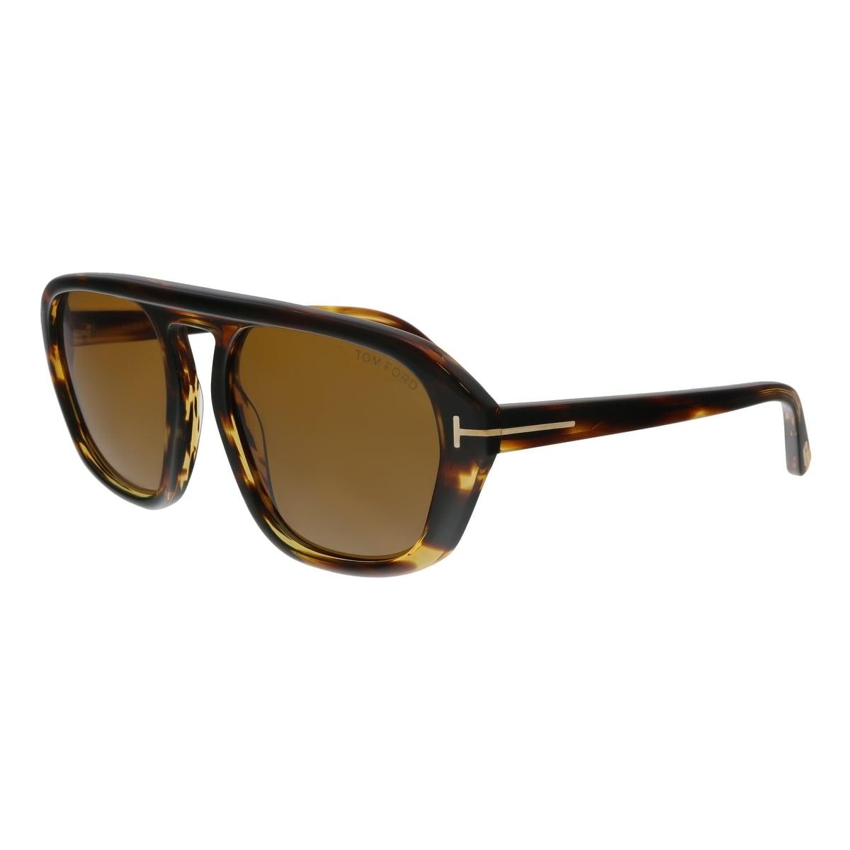 34f732749a2 Shop Tom Ford FT0634 52E David-02 Havana Square Sunglasses - No Size ...