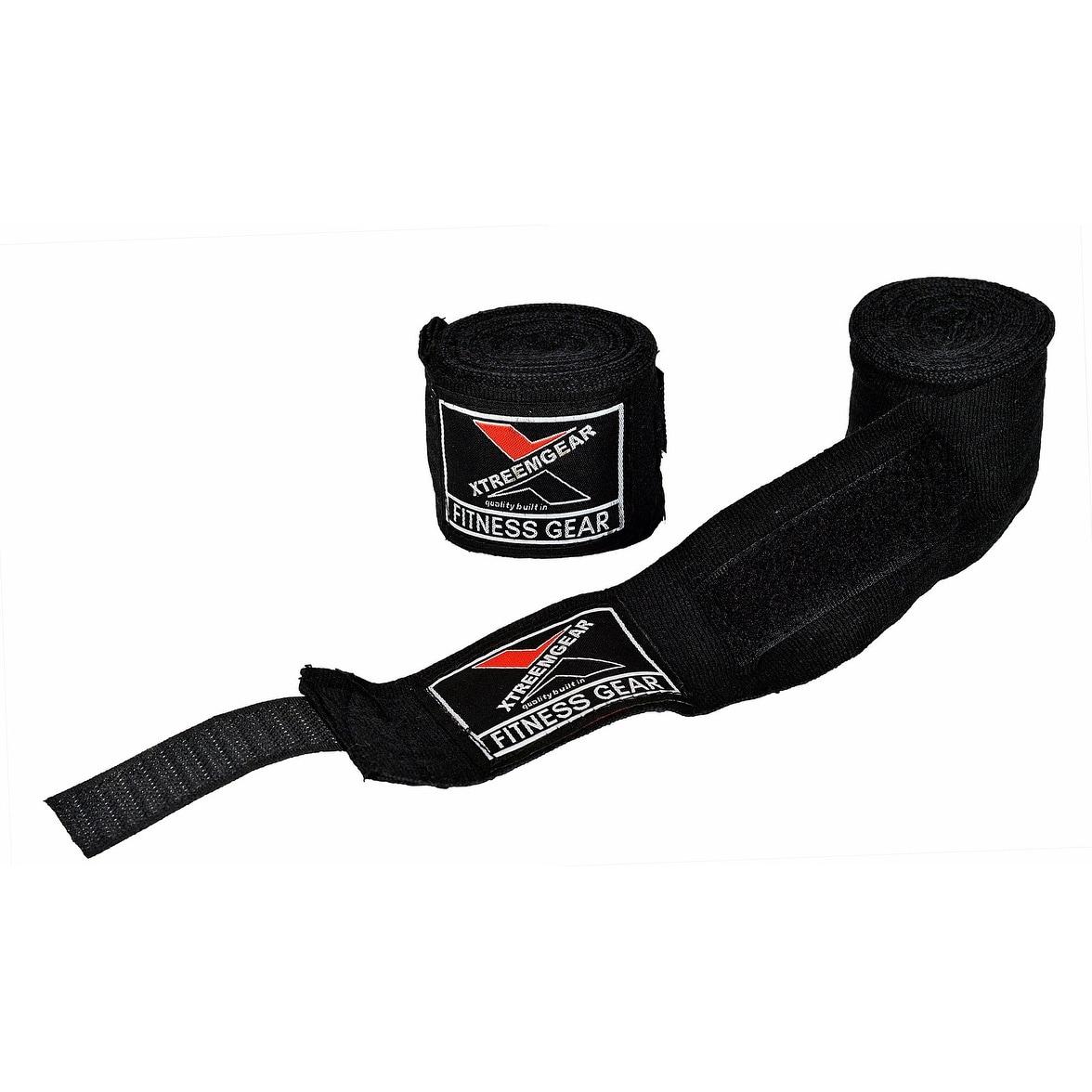 Boxing Hand Wraps Inner Gloves Bandage MMA Training Wrist Strap WRP-5 -  Black