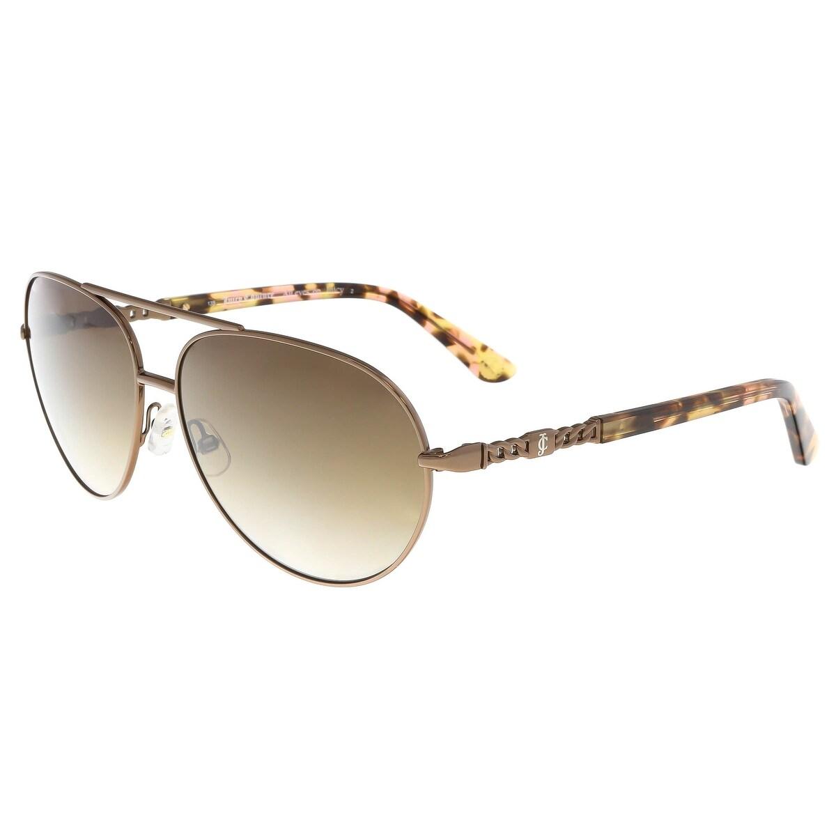 d9371048f859 Shop Juicy Couture - Juicy 582/S 00B0 Brown Aviator Sunglasses - 58 ...