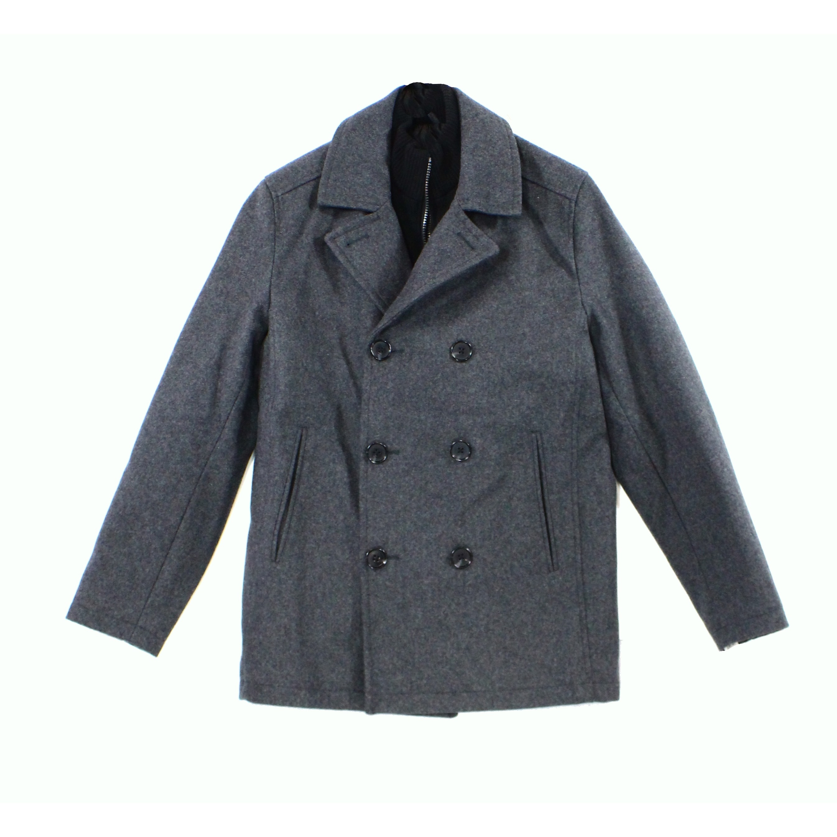 bd8d712e05 Shop INC NEW Gray Mens Size Small S Double-Breasted Notched Peacoat Wool - Free  Shipping On Orders Over $45 - Overstock - 18381126