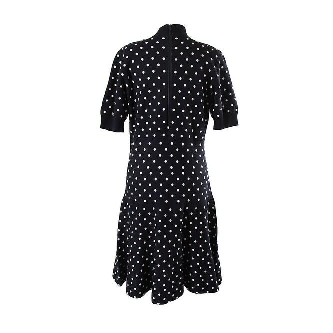 Shop Rachel Rachel Roy Plus Size Black White Polka-Dot Fit & Flare ...