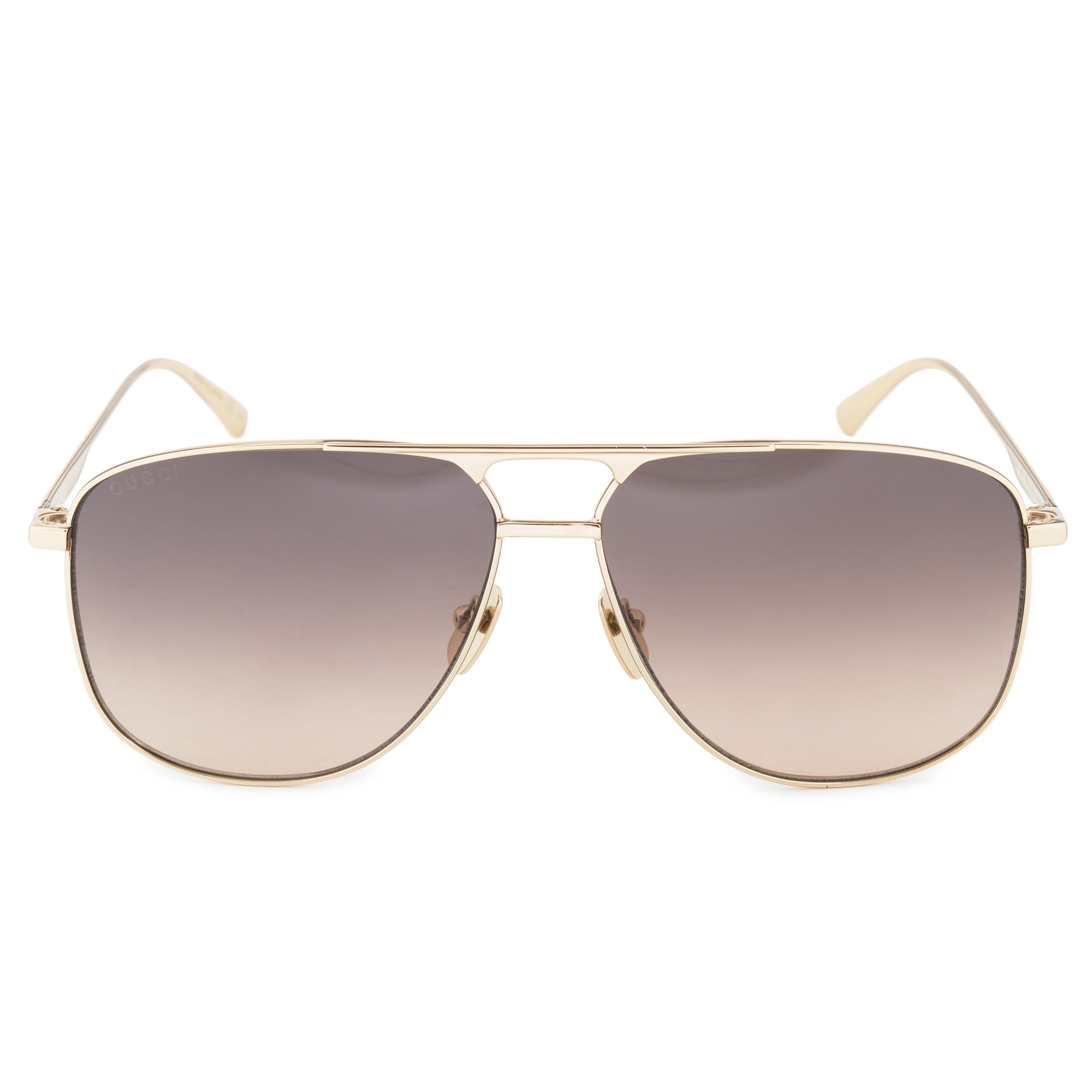 81c38263bc7 Shop Gucci GG0336S 001 60 Aviator Sunglasses - Free Shipping Today ...