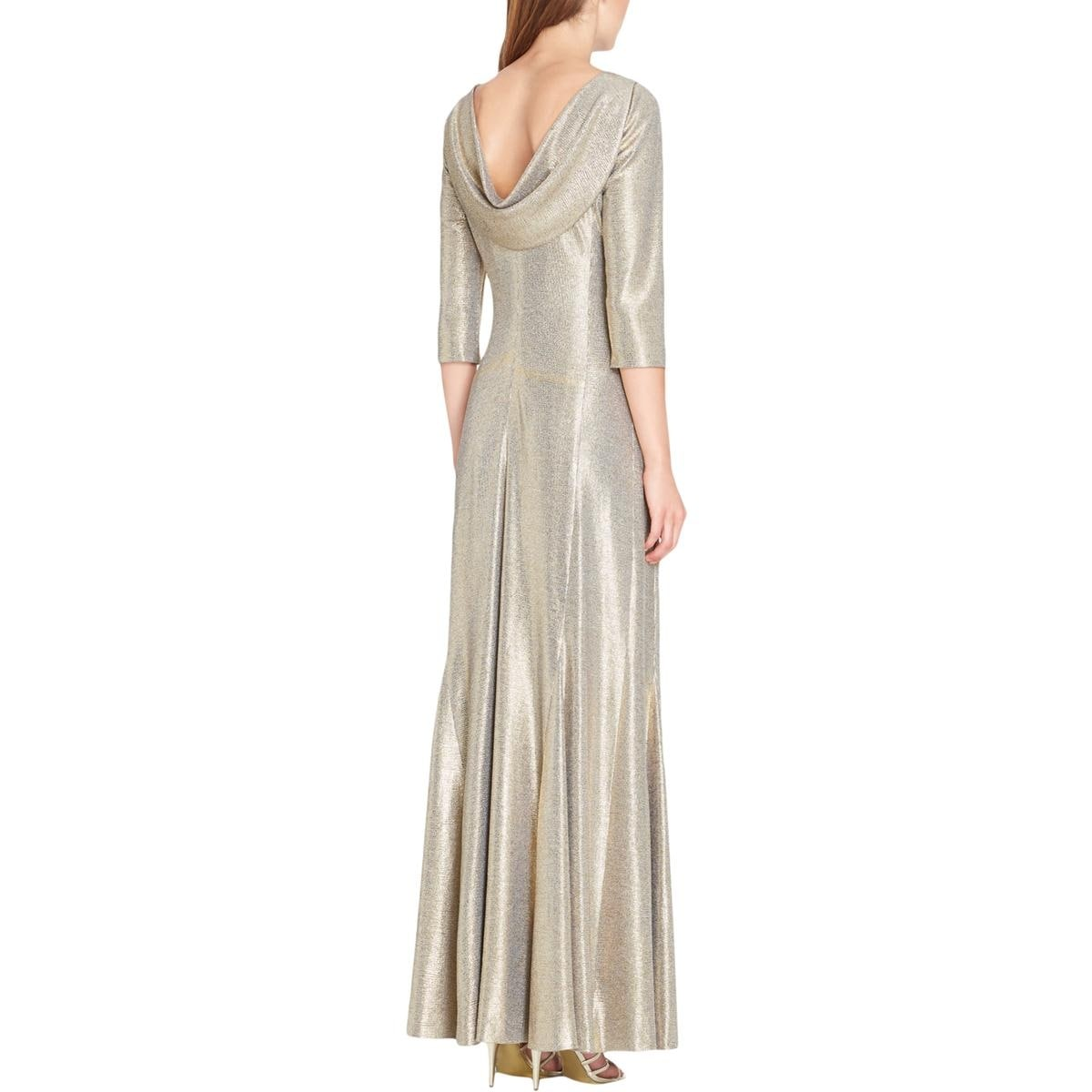 42a165f7cd78b Shop Tahari ASL Womens Evening Dress Metallic Special Occasion - Free  Shipping On Orders Over $45 - Overstock - 25723117