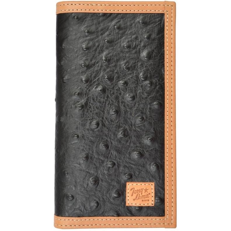 Origional Ostrich Print trifold wallet
