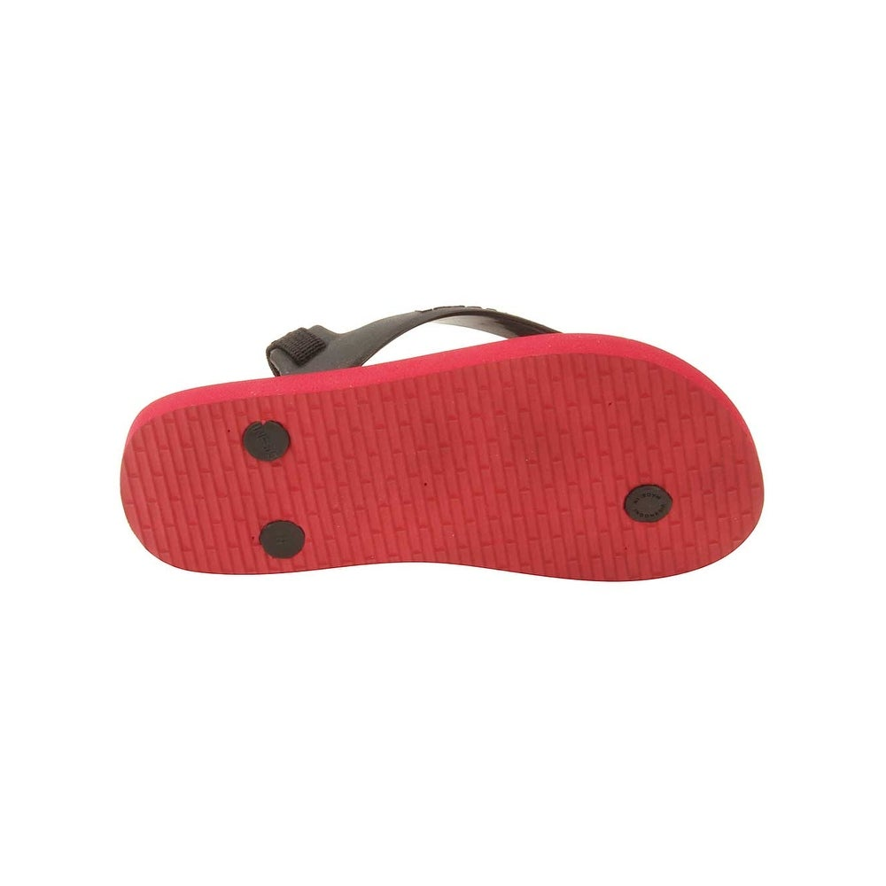 2716623e48679c Shop Lacoste Infant Nosara Strap FSM Sandals in Black Red - Free Shipping  On Orders Over  45 - Overstock.com - 16069516