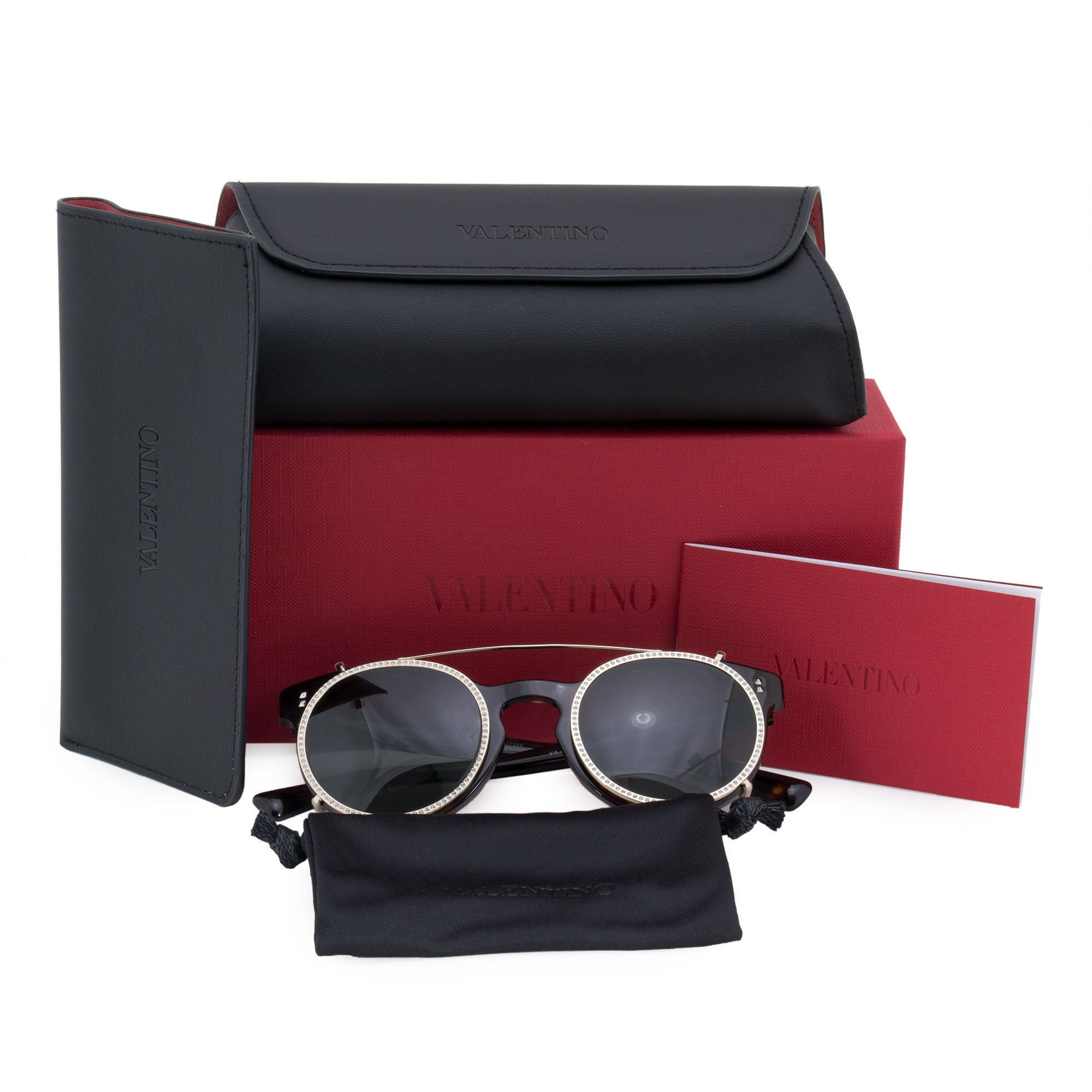 0d8b424877 Shop Valentino Round Sunglasses VA4009CA 500271 47 - Free Shipping Today -  Overstock - 23138912