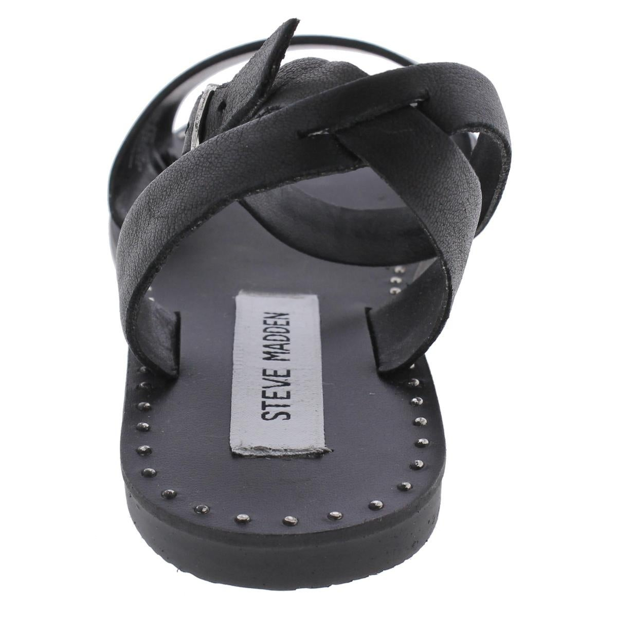 5adb7a168a78d Shop Steve Madden Womens Danny Flat Sandals Open Toe Studded - Free  Shipping On Orders Over $45 - Overstock - 20602921