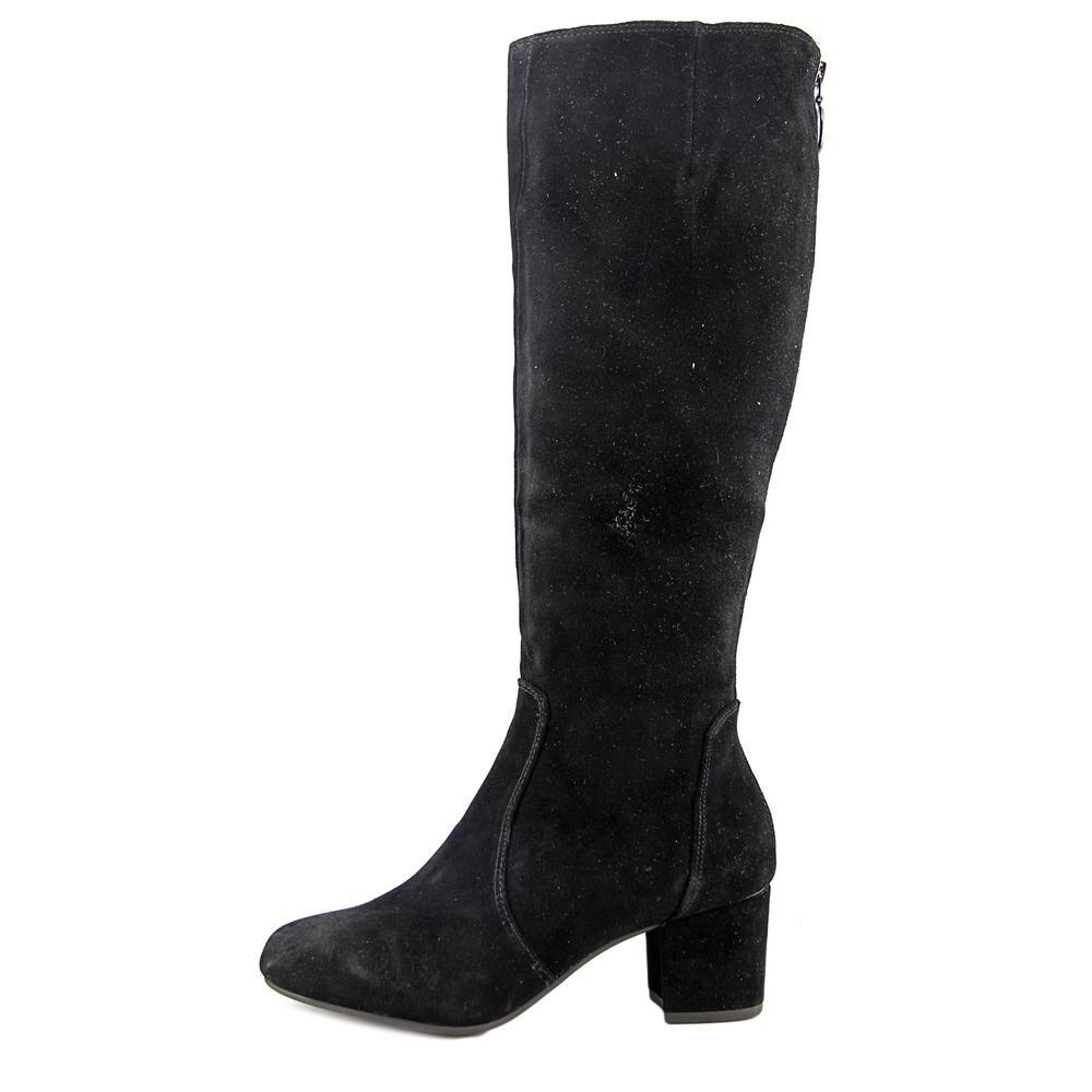 167656f3283 Steve Madden Haydun Women Round Toe Suede Black Knee High Boot