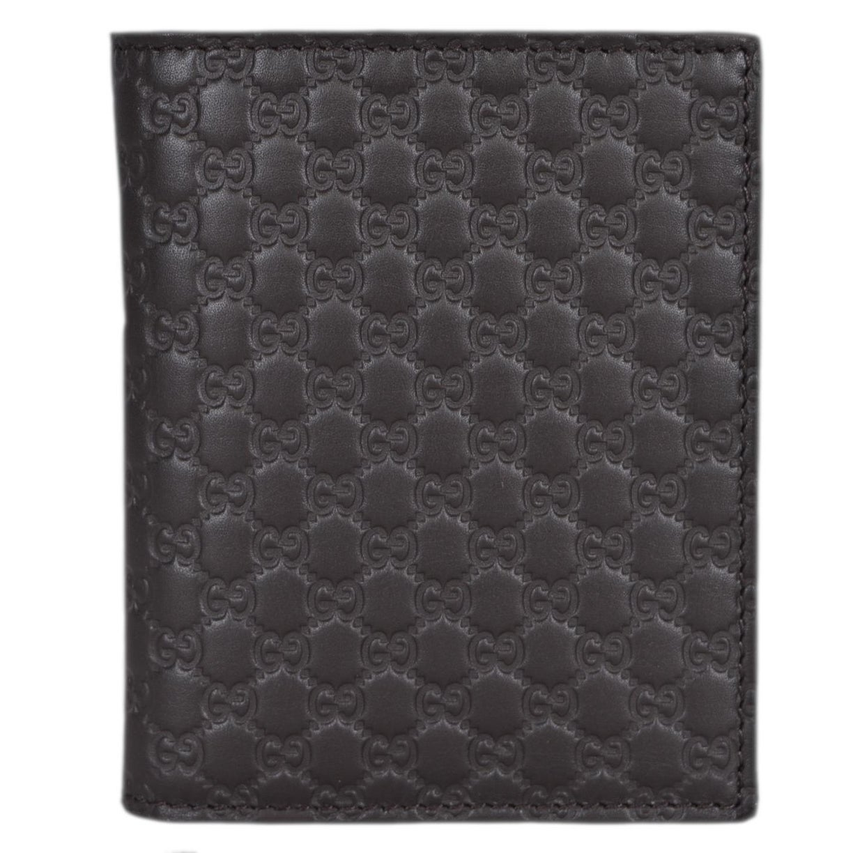 7a664252049c Shop Gucci 292533 Men's Brown Leather Micro GG Guccissima Vertical Bifold  Wallet - 3 7/8