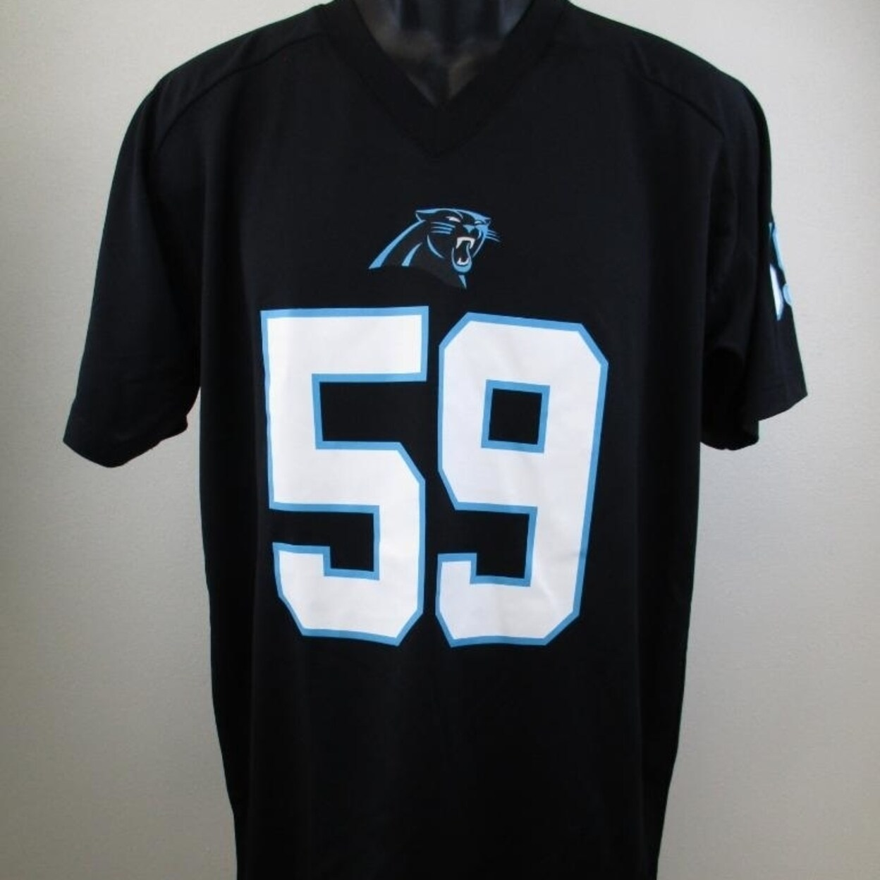 low priced ab485 4f438 Minor-Flaw Luke Kuechly #59 Panthers Youth Size XL XLarge 18/20 Jersey