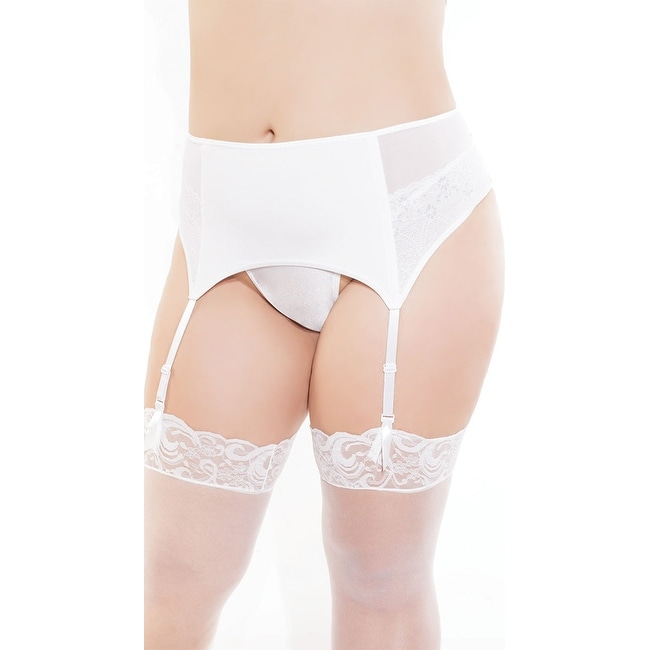 00c8ce497 Shop Plus Size High Waisted White Garter Belt - Free Shipping On Orders  Over  45 - Overstock - 18285526
