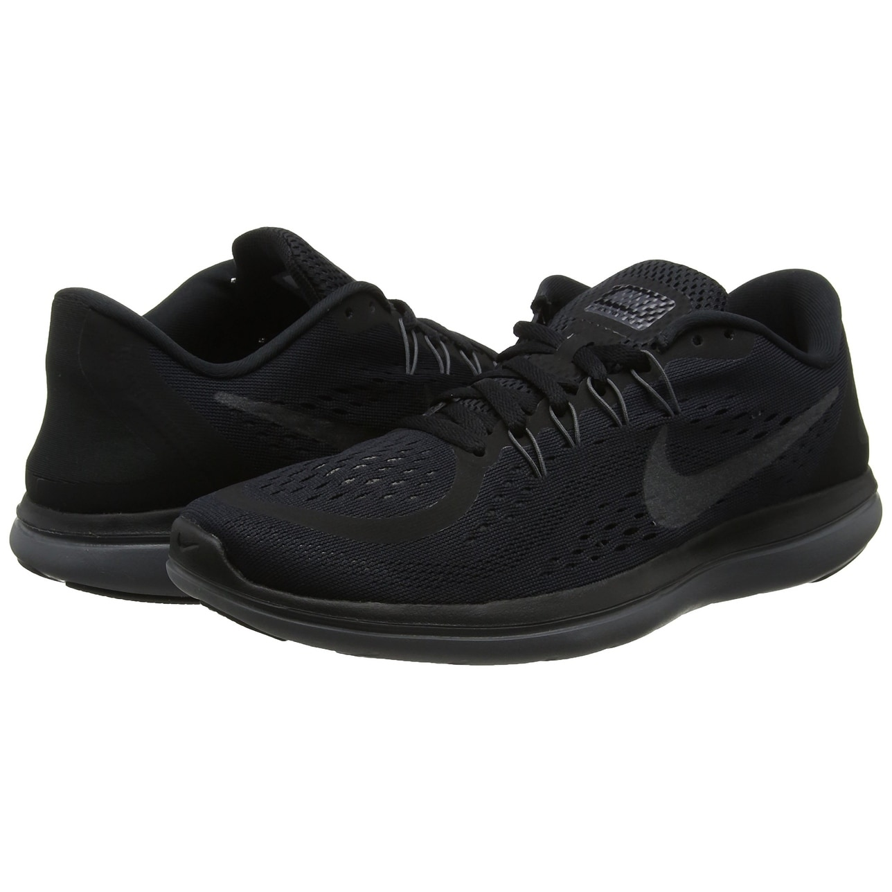 sports shoes 89533 b4e75 Women s Nike Flex 2017 RN Running Shoe Black Metallic Hematite Anthracite Dark  Grey, US Women s