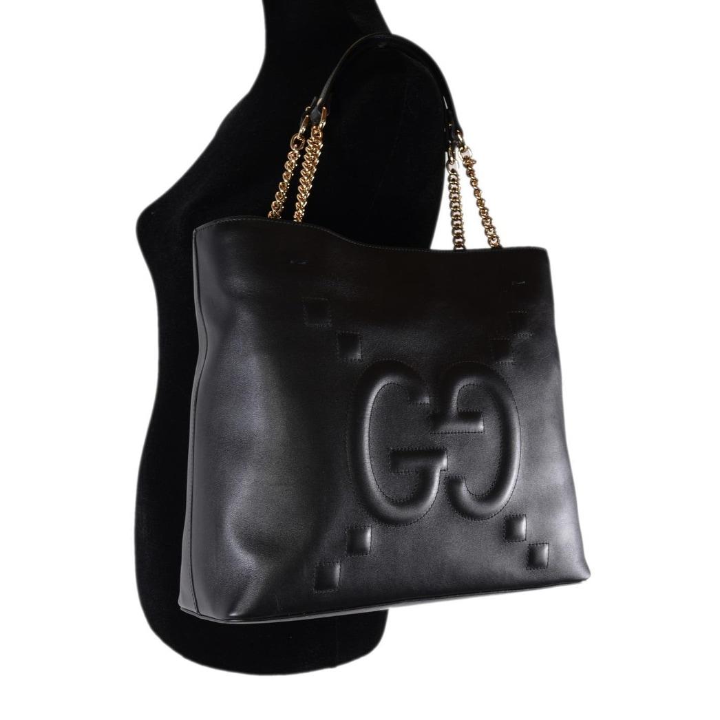184cc7cdd3fd Shop Gucci Women's 453561 Black Leather GG Original Apollo Purse Tote  Handbag - Free Shipping Today - Overstock - 25978209