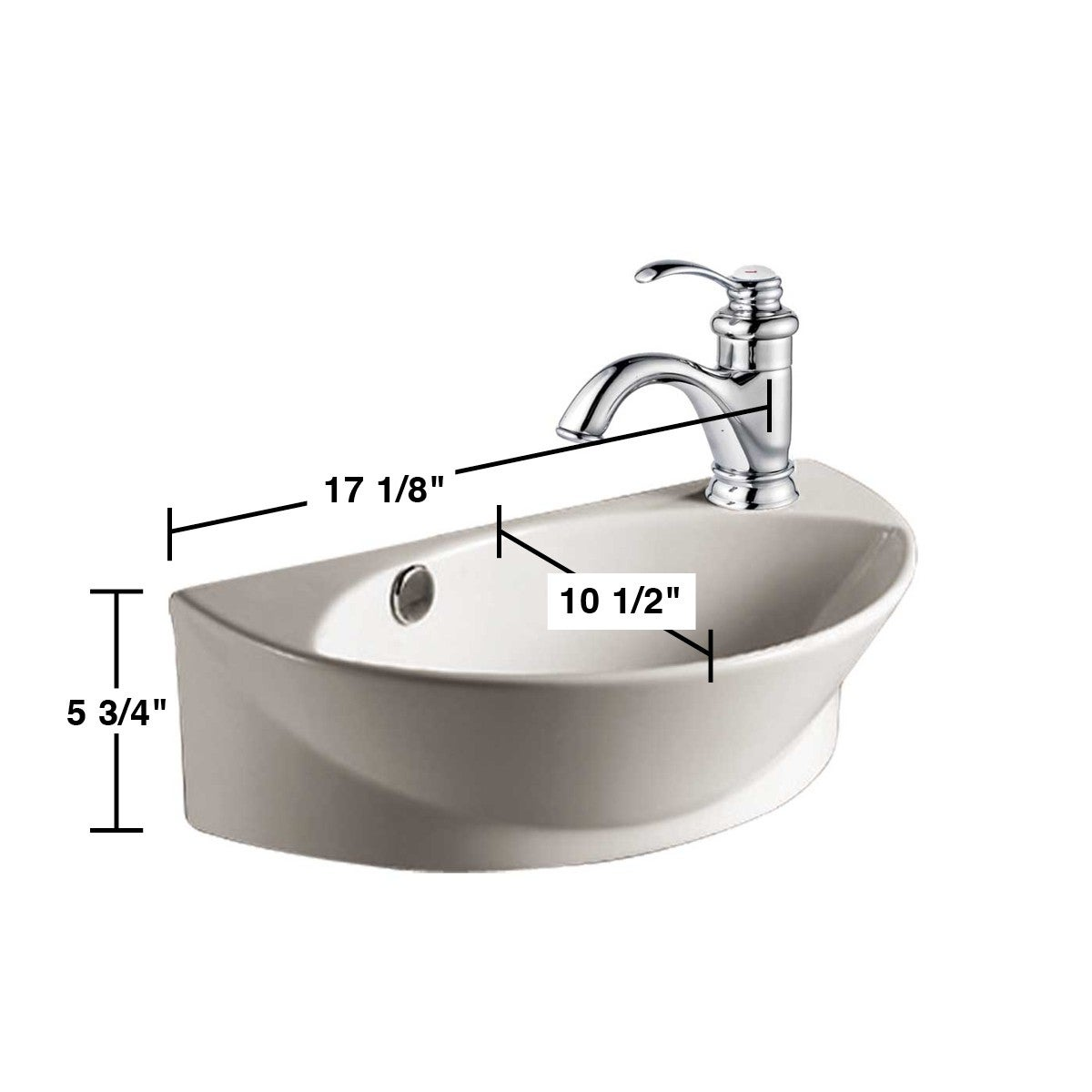 Small Wall Mount Bathroom Sink White With Single Faucet Hole Free Shipping Today 12636451